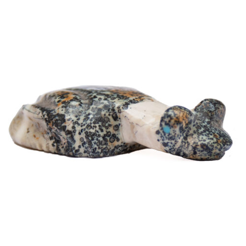 Fred Weekoty Ocean Jasper Frog Carving