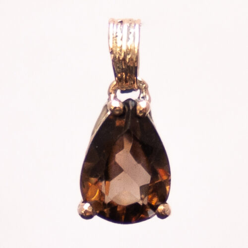 9K Gold Smoky Quartz Pendant