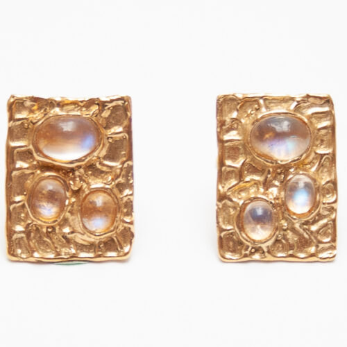 Gold Moonstone Cufflinks