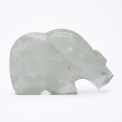 Native American Zuni Fluorite Bear Carving