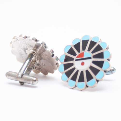 Black Blue Cufflinks