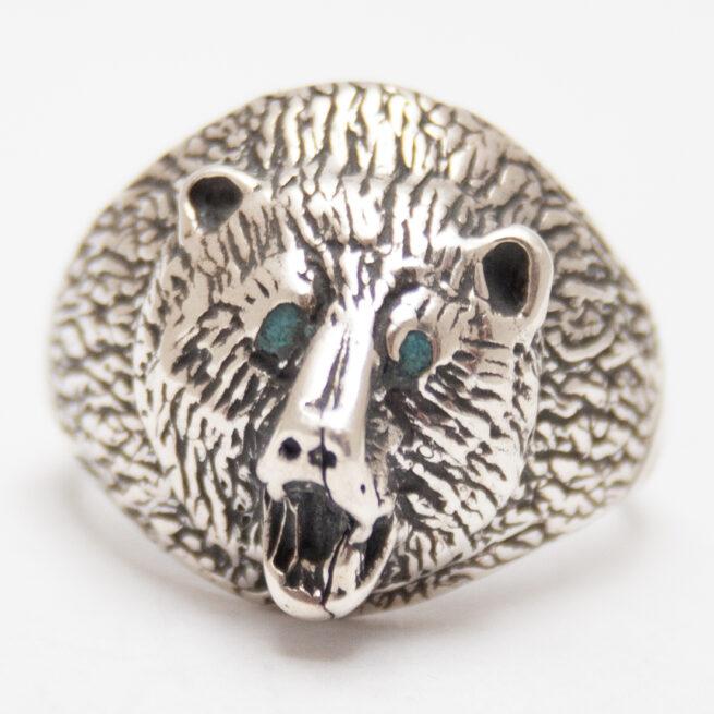 Silver Bear Ring