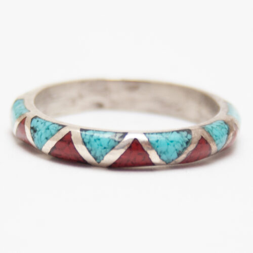 Slim Turquoise Coral Ring