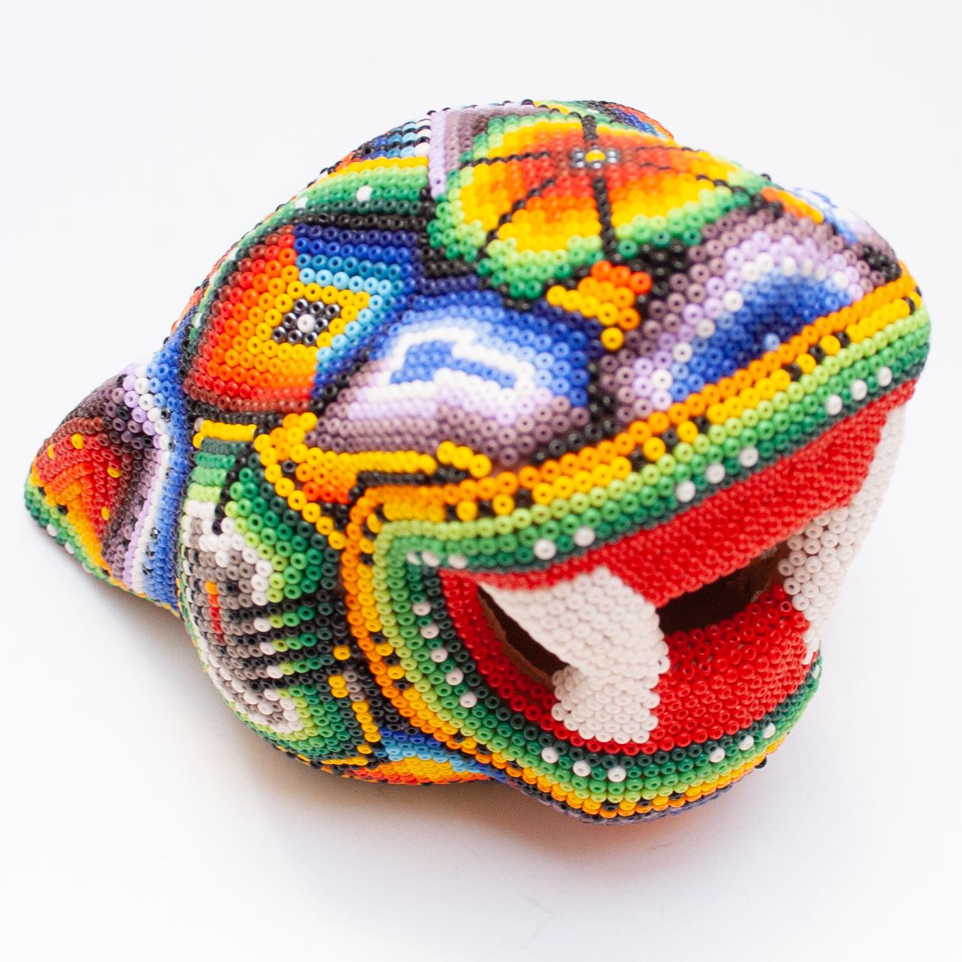 Multicolour Beaded Jaguar Head