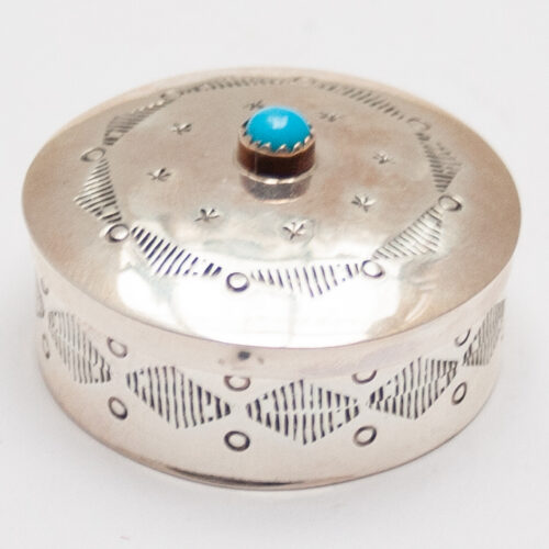 Pocket Silver Turquoise Box