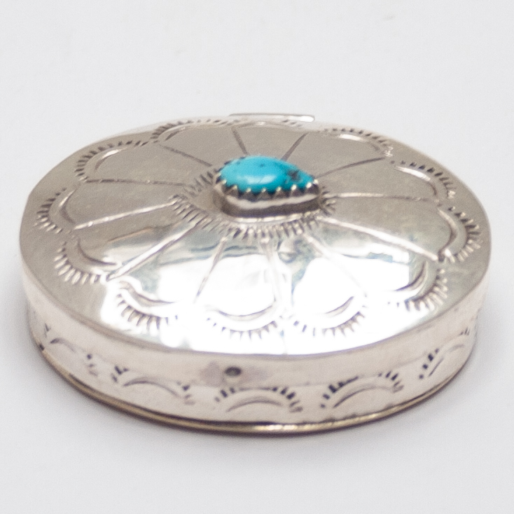 Small Silver Turquoise Box