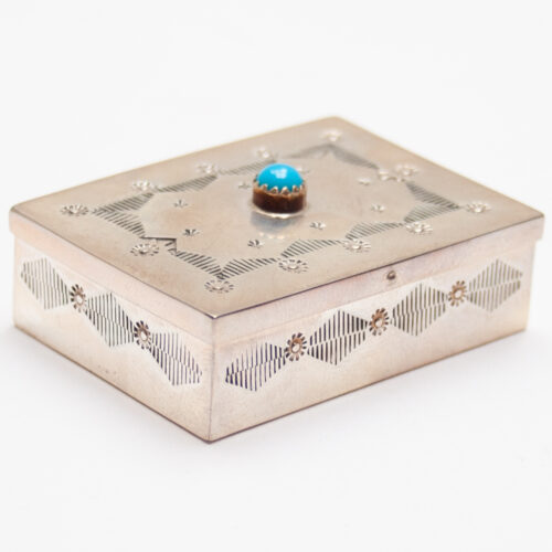 Sterling Silver Turquoise Box