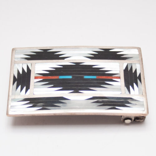 Zuni Inlay Belt Buckle
