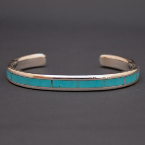 Larry Loretto Turquoise Silver Bangle