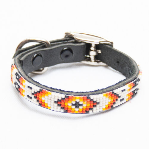 Zuni White Dog Collar