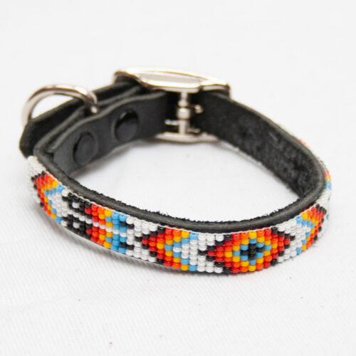 White Beaded Dog Collar