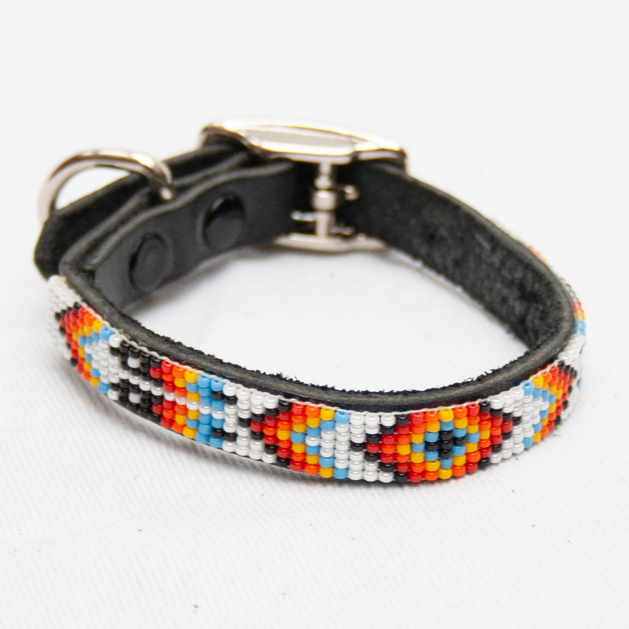 White Beaded Dog Collar