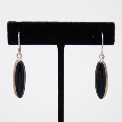 Jet Drop Earrings