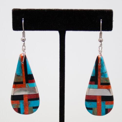 Zuni Mozaic Slab Earrings