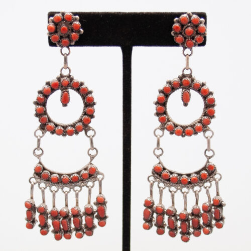 Large Coral Earrings