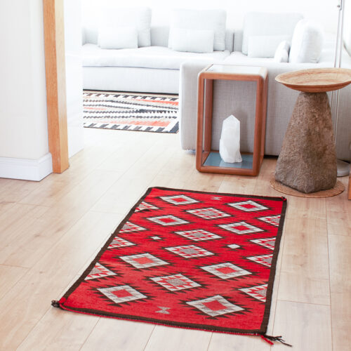 1960's Red Dazzler Area Rug