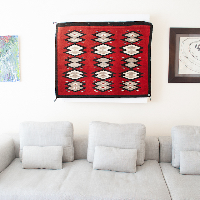 1940's Navajo Red Wall Hanging Handwoven