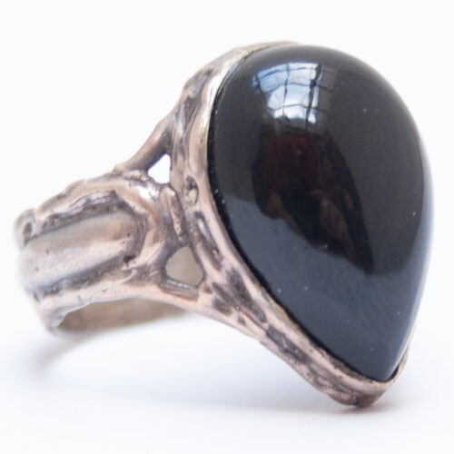 Rainbow Obsidian ring