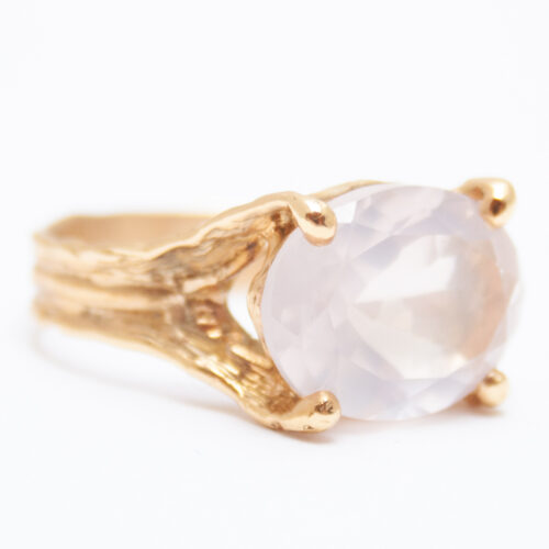 Gold Rose Quartz ring