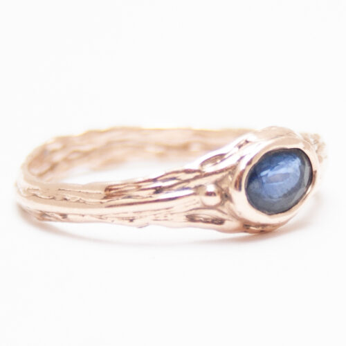 Gold Blue Sapphire ring