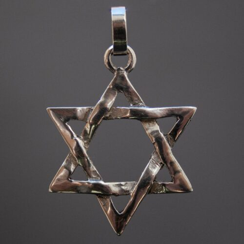 Sterling Silver Star of David Hexagram Pendant
