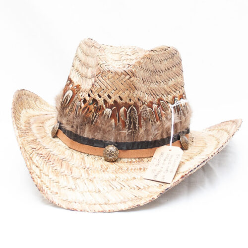 Brown Feather Festival Hat