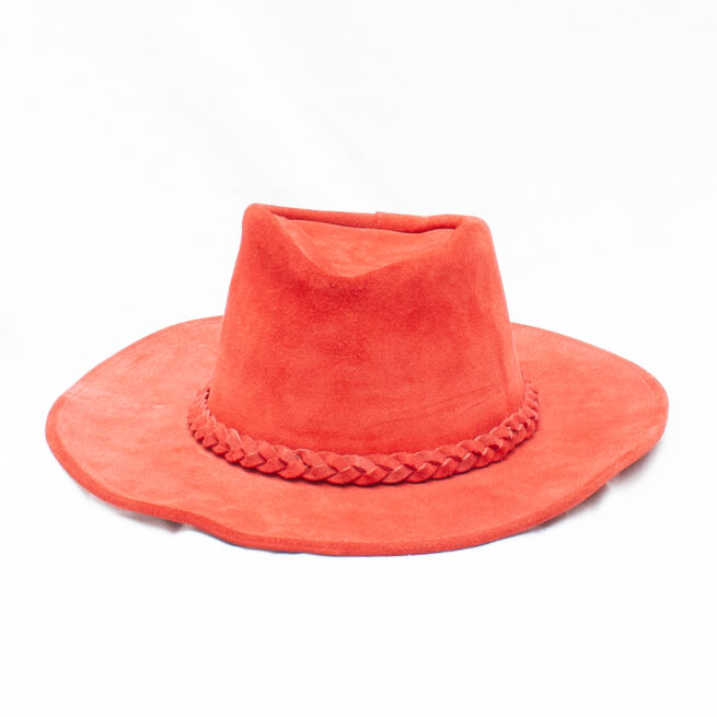 Red Suede Hat Small