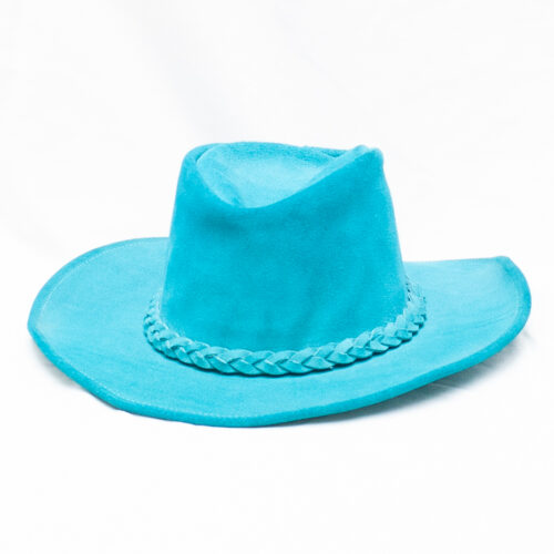 Turquoise suede cowboy hat