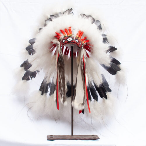 Small Black White Headdress