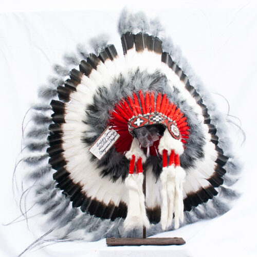 Black White Red Headdress