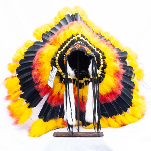 Yellow Red Black Headdress