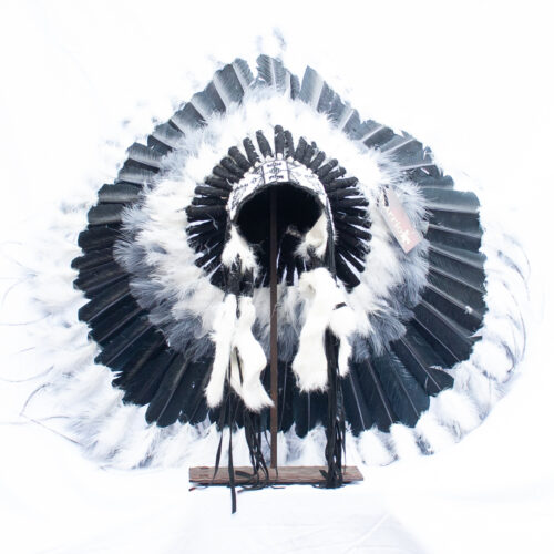 Black Grey White Headdress