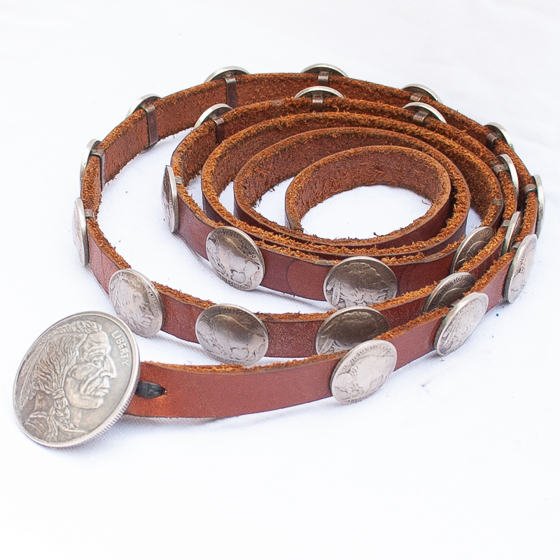 Vintage Navajo nickel concho belt