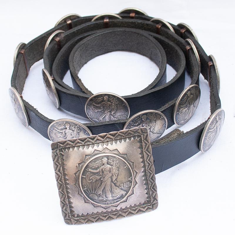 Liberty Dollar Concho Belt