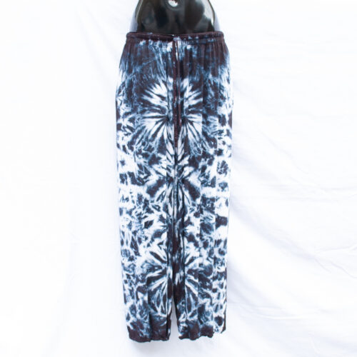 Monochrome Tie-Dye Trousers L/XL