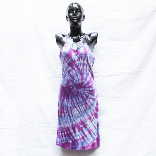 Purple Silk Dress L