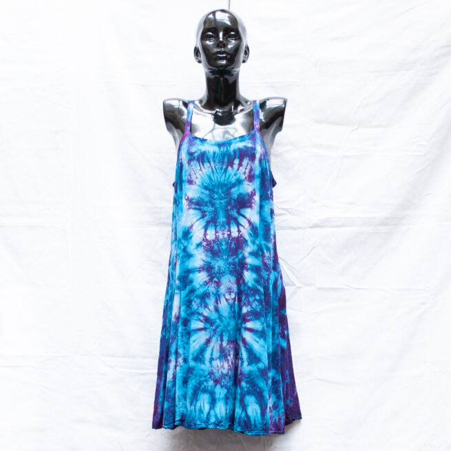 Blue Tie-Dye Dress M