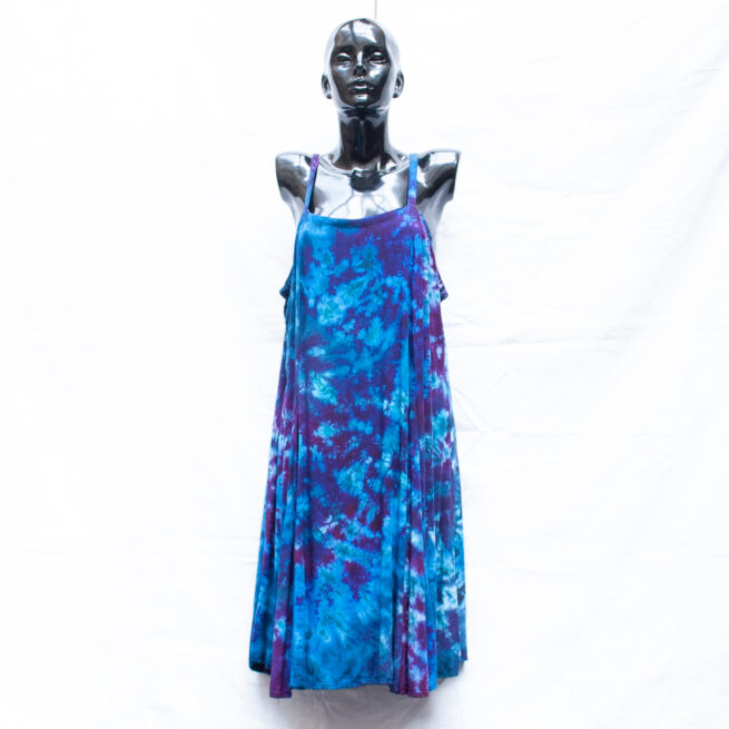 Blue Tie-Dye Dress XL