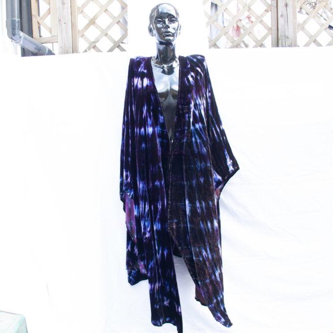 Purple Tie-Dye Shawl