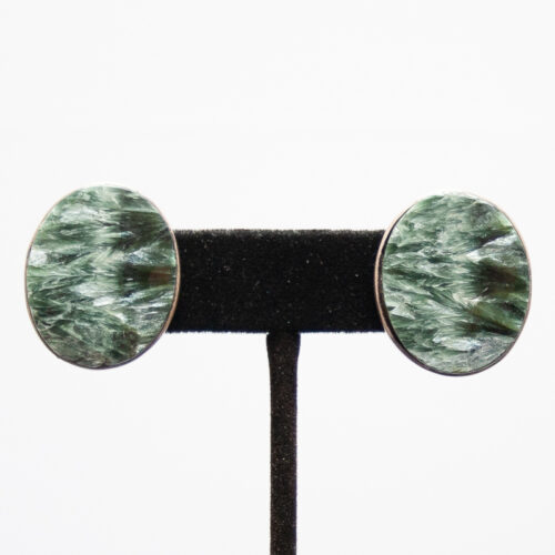 Seraphinite Stud Earrings