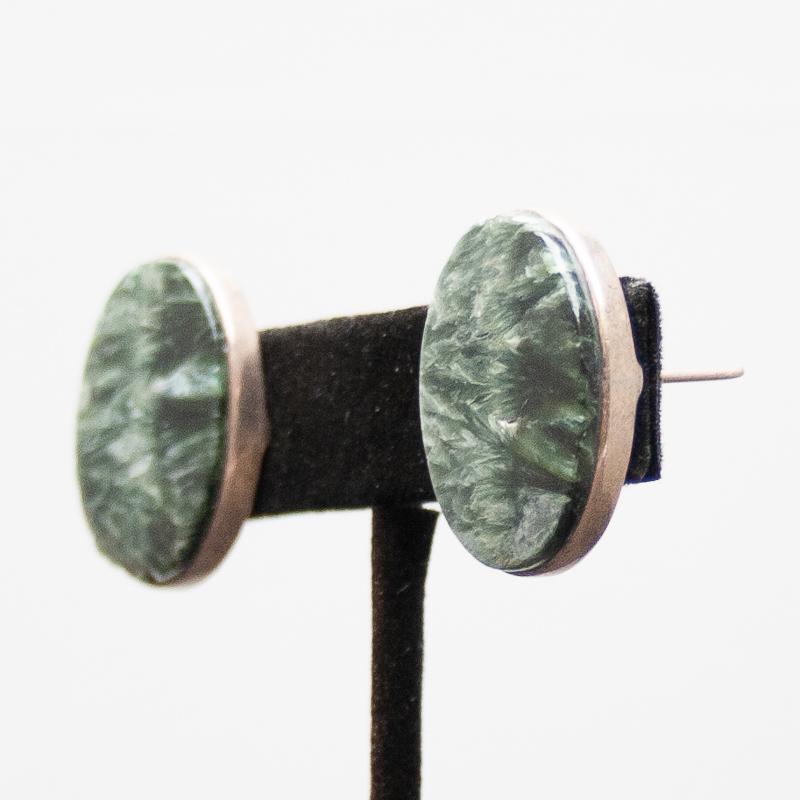 Seraphinite Stud Earrings