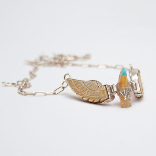 Small White Eagle Necklace