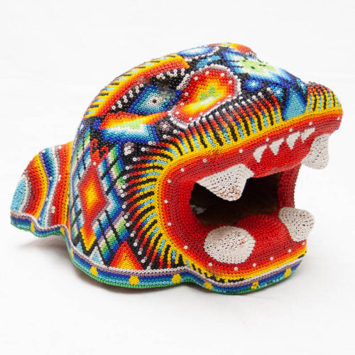 Large Huichol Jaguar Head