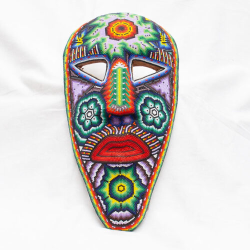 Large Huichol Beaded Mask