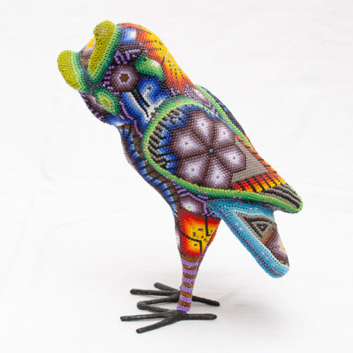 Huichol Beaded Owl