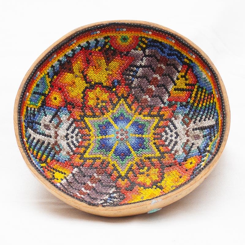 Huichol Beaded Bowl