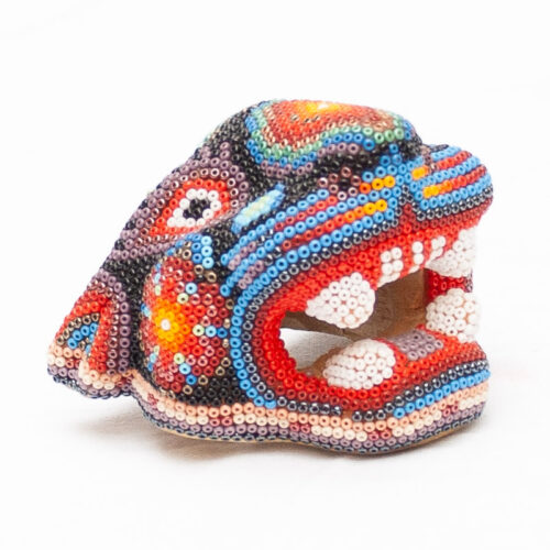 Small Huichol Jaguar Head