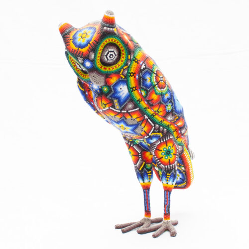 Large Huichol Beaded Owl