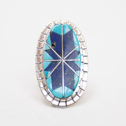 Lapis Turquoise Inlay Ring