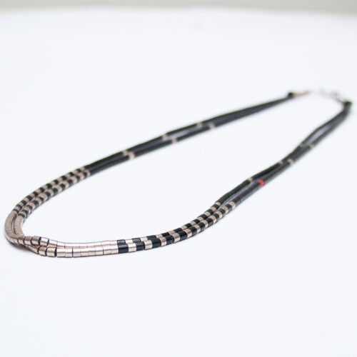 Jet and Silver Necklace